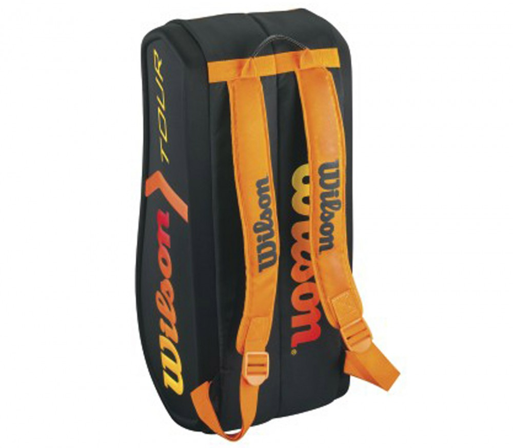 wilson burn molded 9er sac de tennis orange noir acheter en ligne keller sports. Black Bedroom Furniture Sets. Home Design Ideas