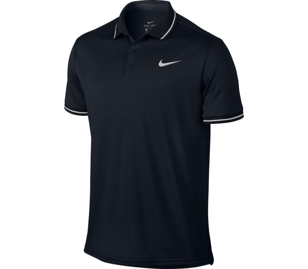 nike court hommes tennis polo noir acheter en ligne keller sports. Black Bedroom Furniture Sets. Home Design Ideas
