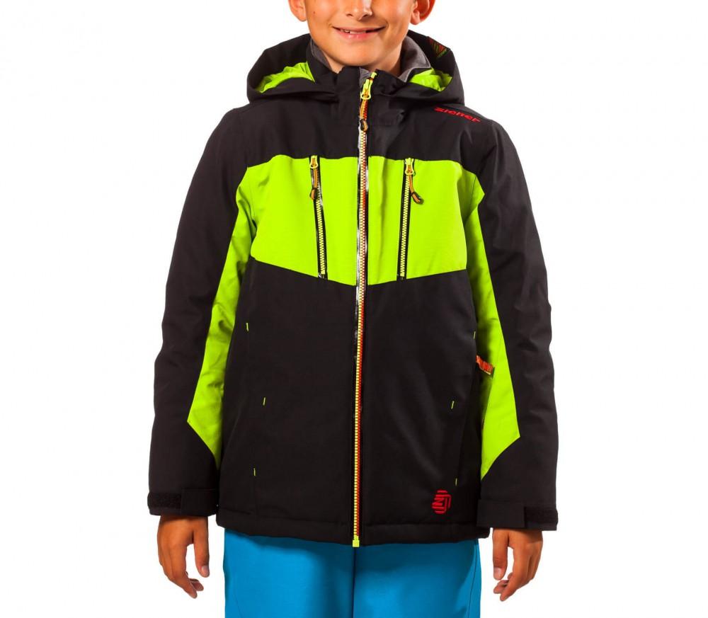 ziener adam enfants manteau de ski vert noir acheter en ligne keller sports. Black Bedroom Furniture Sets. Home Design Ideas