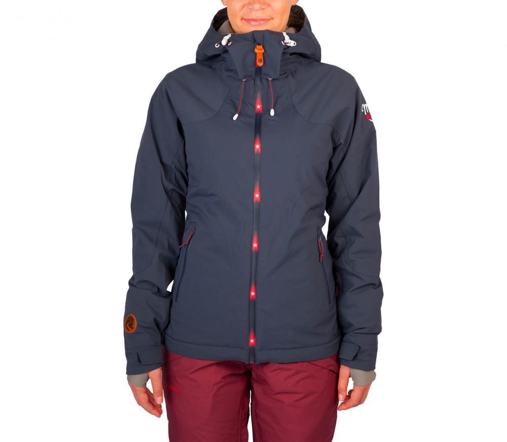 maloja aronam femmes manteau de ski bleu fonc acheter en ligne keller sports. Black Bedroom Furniture Sets. Home Design Ideas