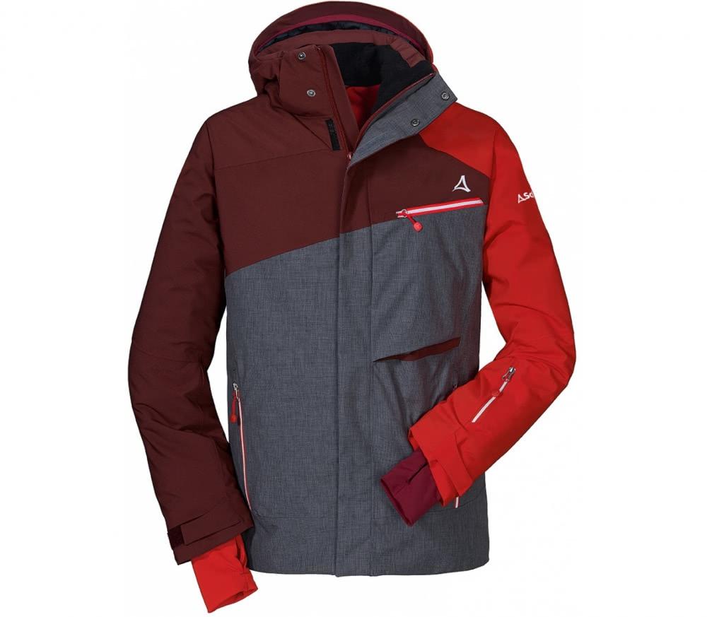 sch ffel helsinki1 hommes manteau de ski gris rouge acheter en ligne keller sports. Black Bedroom Furniture Sets. Home Design Ideas