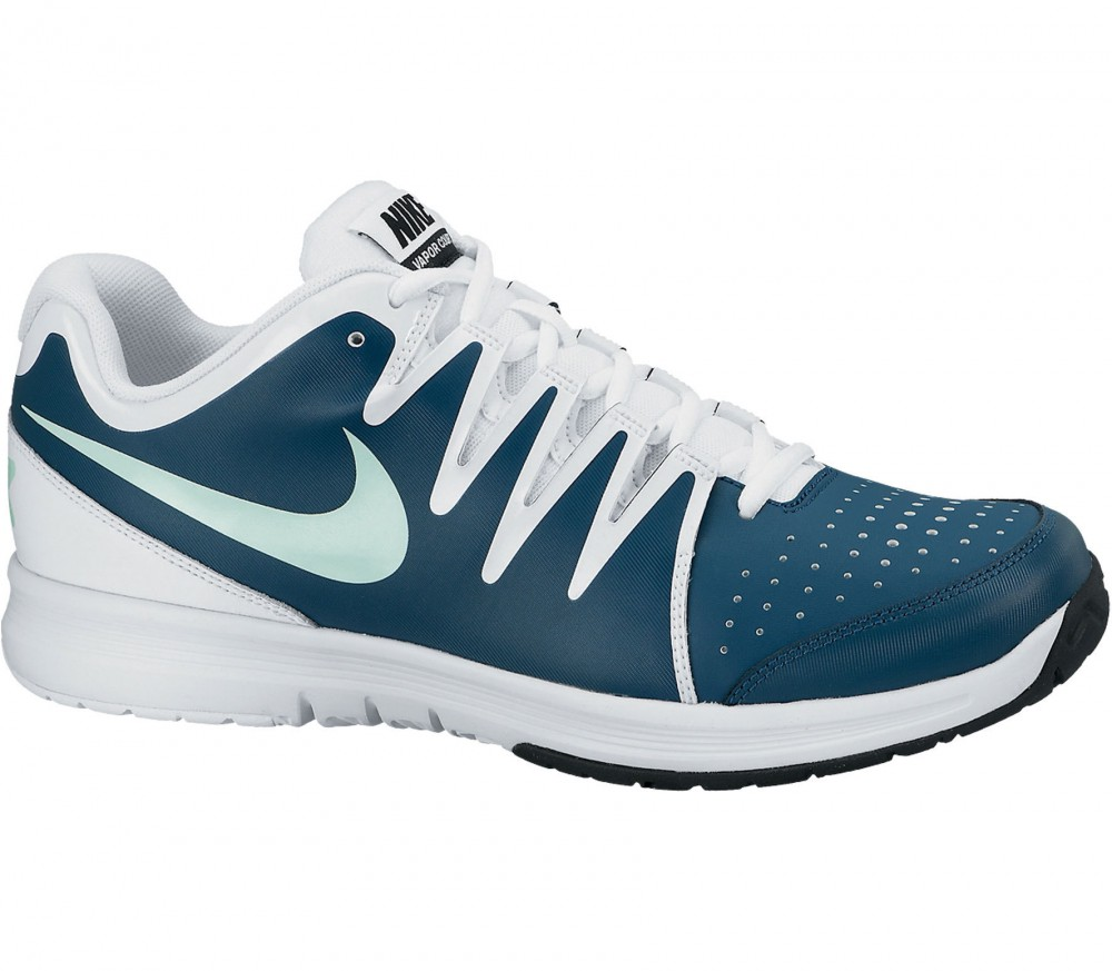 Nike air vapor court hommes chaussure de tennis bleu for Taille court de tennis