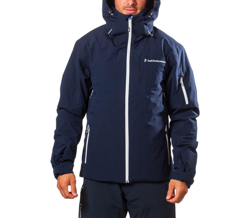 peak performance maroon active hommes manteau de ski bleu fonc acheter en ligne keller sports. Black Bedroom Furniture Sets. Home Design Ideas