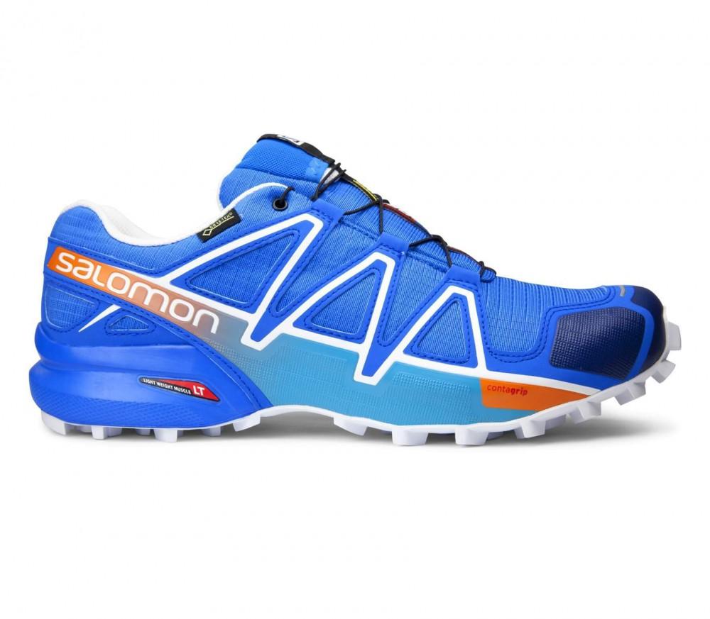 salomon speedcross 4 gtx hommes chaussure de course bleu blanc acheter en ligne keller sports. Black Bedroom Furniture Sets. Home Design Ideas