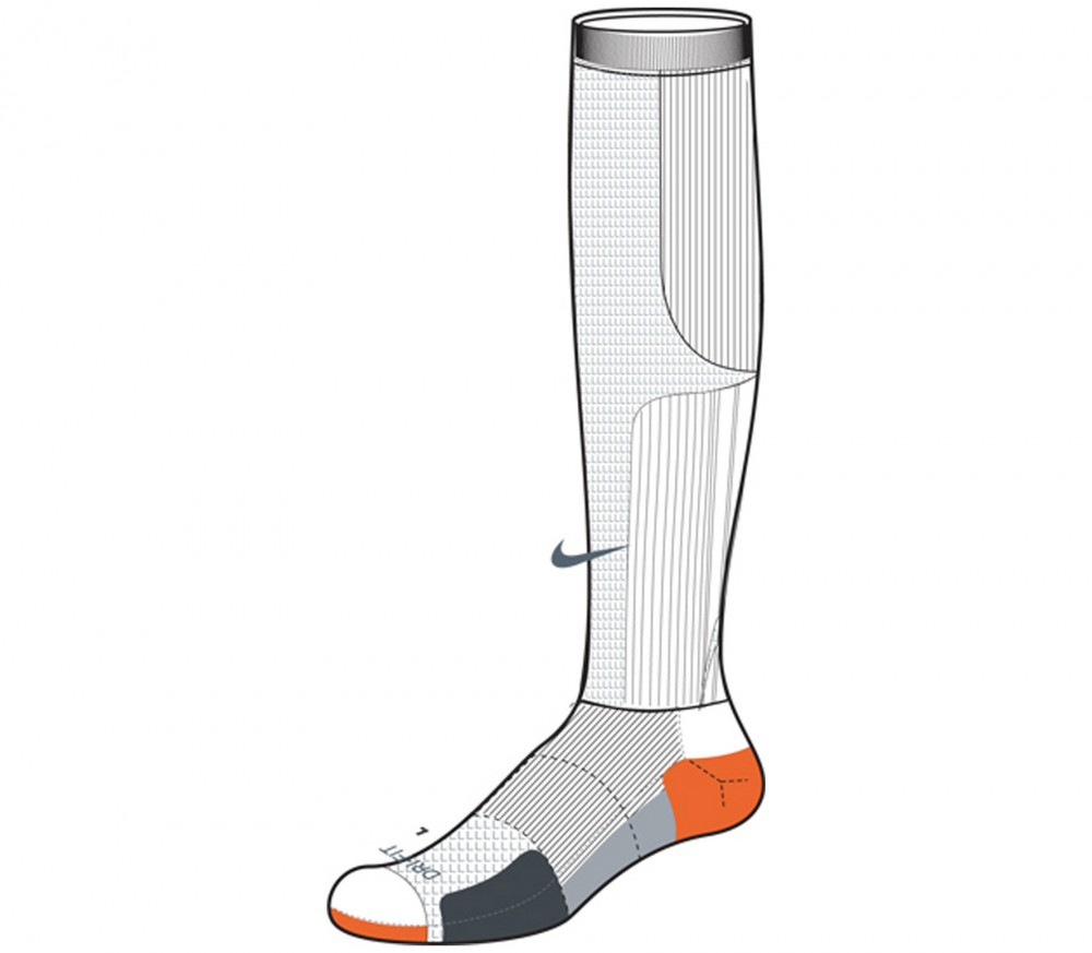 nike chaussettes lang elite run cush comp kn hi blanc2012 acheter en ligne keller sports. Black Bedroom Furniture Sets. Home Design Ideas