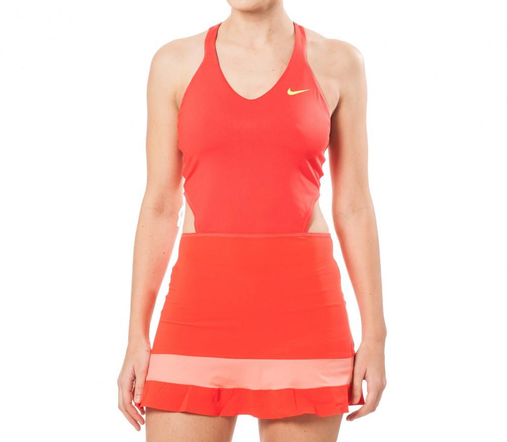 Nike maria sharapova australian open premier femmes robe de tennis rouge orange acheter en - Robe tennis femme ...