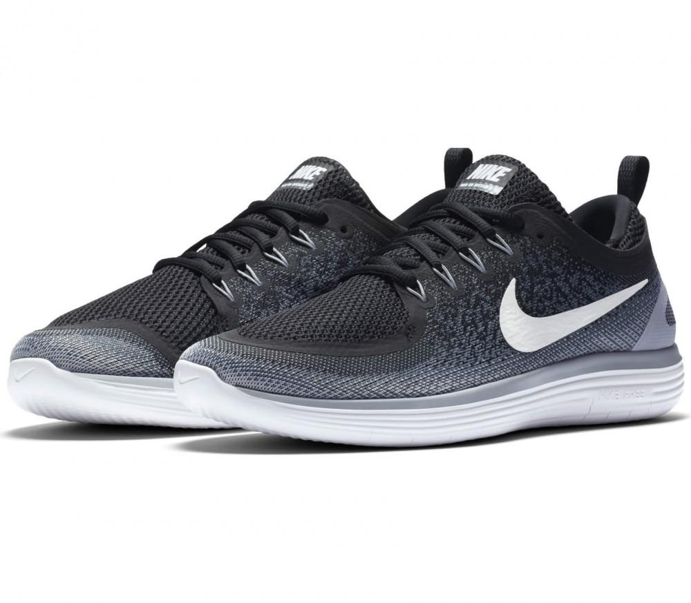 Nike - Free RN Distance 2 chaussures de running pour hommes (noir/blanc)