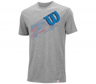 Wilson - Summer Blur Plaid Tech Hommes T-Shirt (bleu clair)