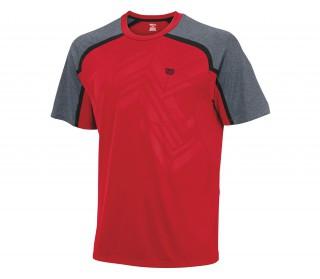 Wilson - Ashland Emboss Crew Herren Tennisshirt (grau/rot)