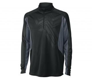 Wilson - T-shirt de tennis manches longues Ashland 1/2 Zip Hommes (noir)