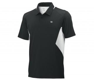 Wilson - Polo de tennis Great Get Hommes (noir/blanc)