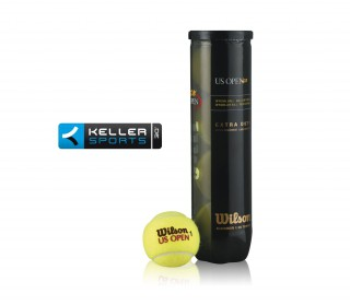 Wilson - 4 Balles US Open Logo Keller Sports