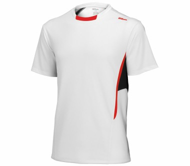 Wilson - t-shirt Crew blanc Hommes - Tennis - Vêtements de tennis - Hommes