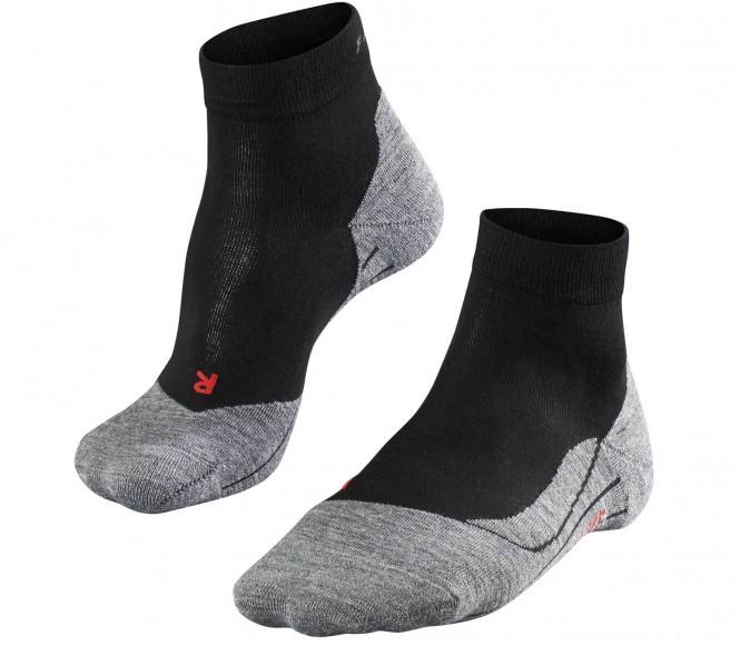 falke ru4 short chaussettes de running pour femmes gris noir running v tements de. Black Bedroom Furniture Sets. Home Design Ideas